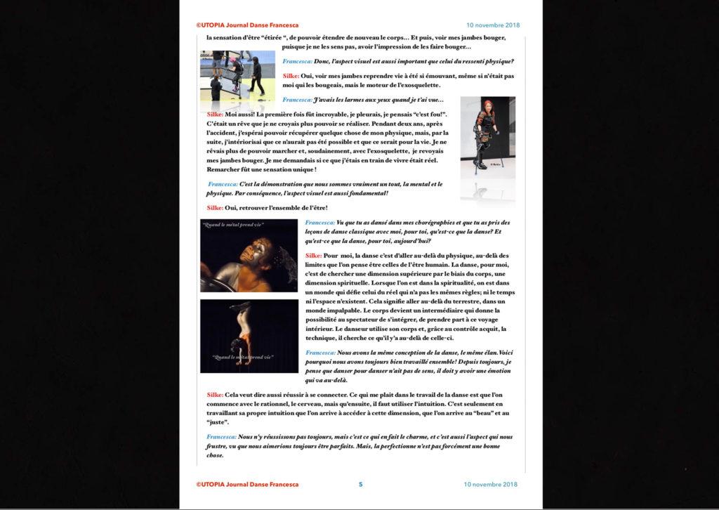 ©Utopia Journal Danse Francesca Périodique n.6-10 Novembre 2018 version française page 5