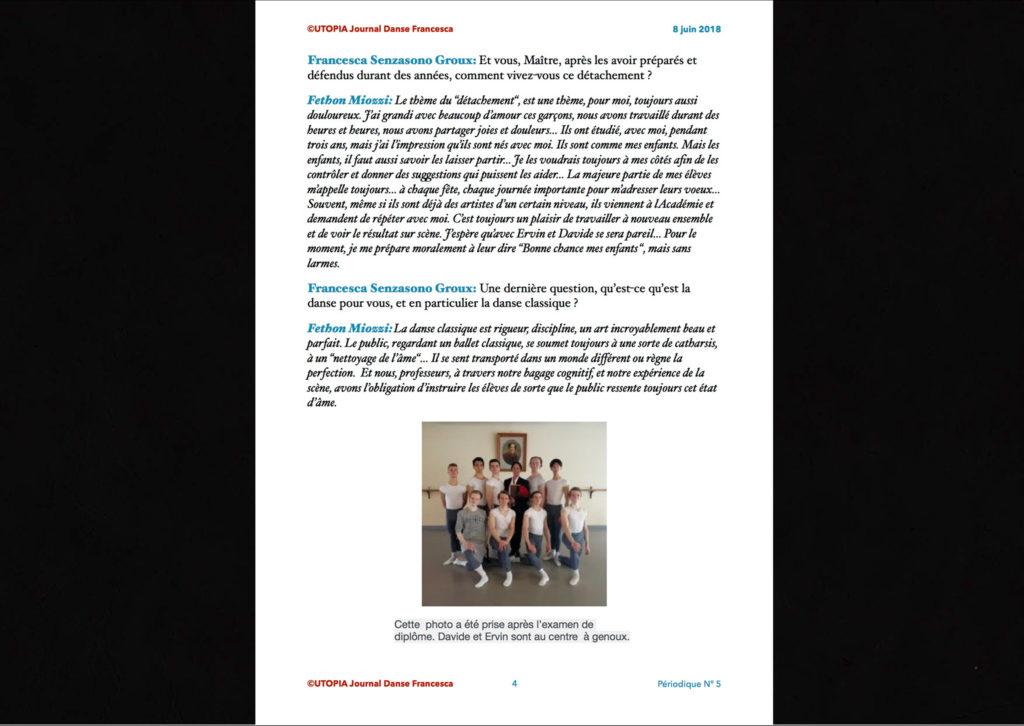©Utopia Journal Danse Francesca Périodique n.5 8 Juin 2018 version française page 4