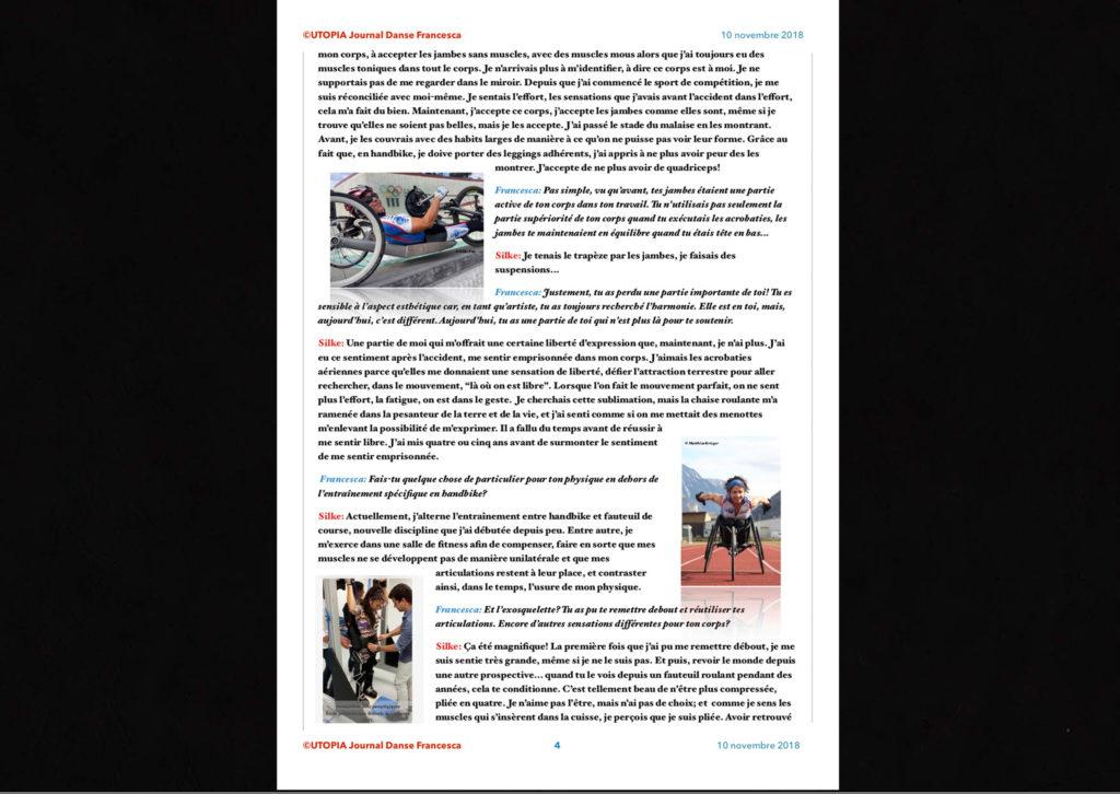 ©Utopia Journal Danse Francesca Périodique n.6-10 Novembre 2018 version française page 4