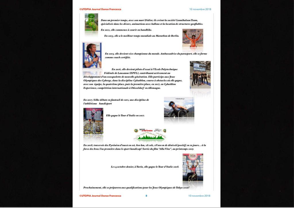 ©Utopia Journal Danse Francesca Périodique n.6-10 Novembre 2018 version française page 8