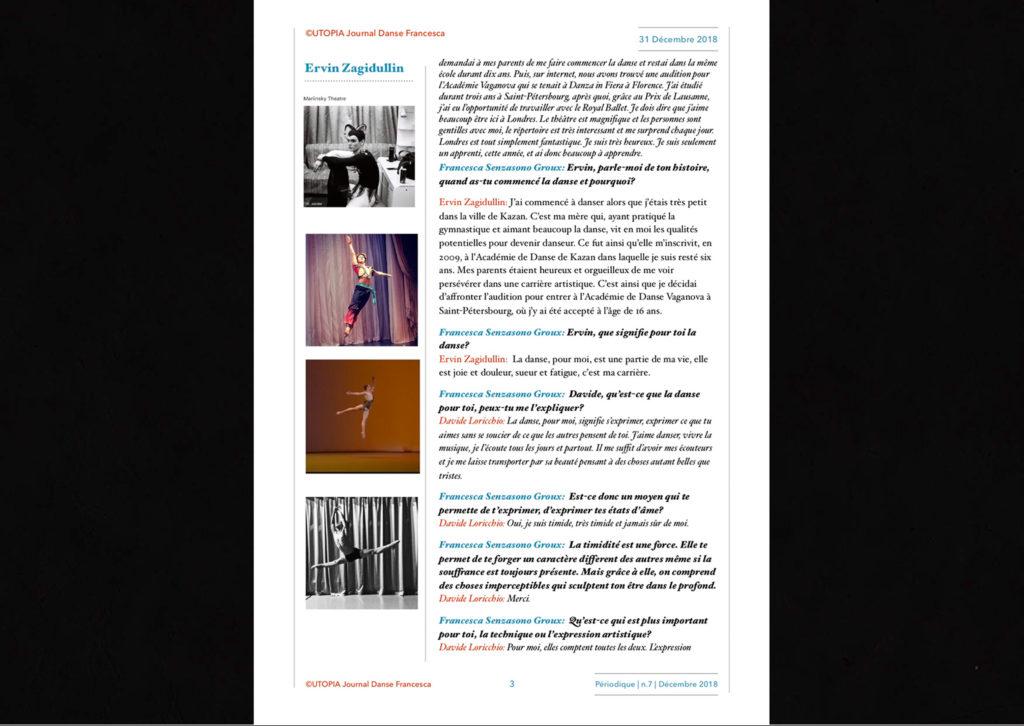 ©Utopia Journal Danse Francesca Périodique n.7 31 Décembre 2018 version française page 3