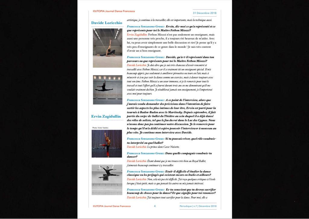 ©Utopia Journal Danse Francesca Périodique n.7 31 Décembre 2018 version française page 4