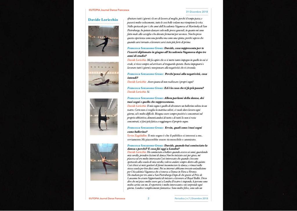 ©Utopia Journal Danse Francesca Periodico n.7 31 Dicembre 2018 versione italiana pagina 2