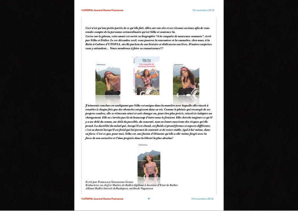 ©Utopia Journal Danse Francesca Périodique n.6-10 Novembre 2018 version française page 9