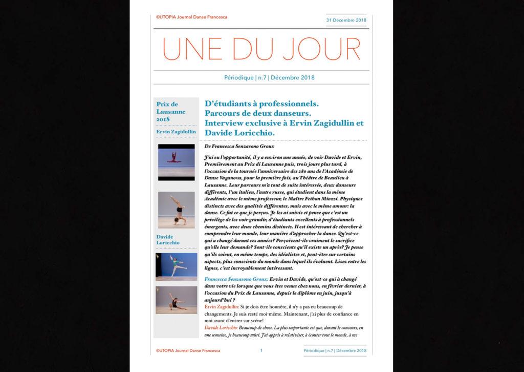 ©Utopia Journal Danse Francesca Périodique n.7 31 Décembre 2018 version française page 1