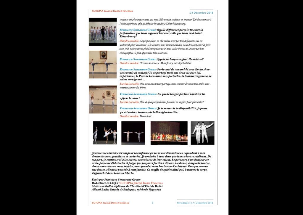 ©Utopia Journal Danse Francesca Périodique n.7 31 Décembre 2018 version française page 5