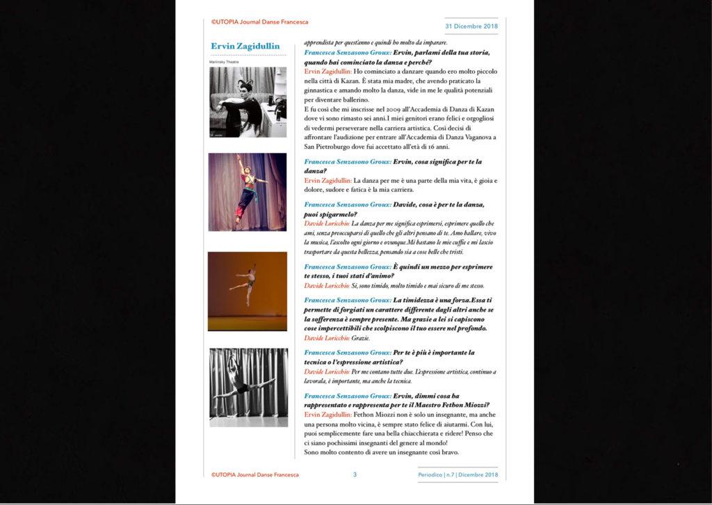 ©Utopia Journal Danse Francesca Periodico n.7 31 Dicembre 2018 versione italiana pagina 3