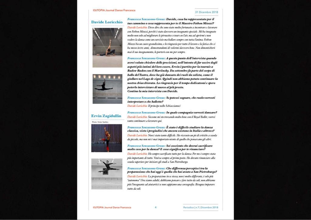 ©Utopia Journal Danse Francesca Periodico n.7 31 Dicembre 2018 versione italiana pagina 4