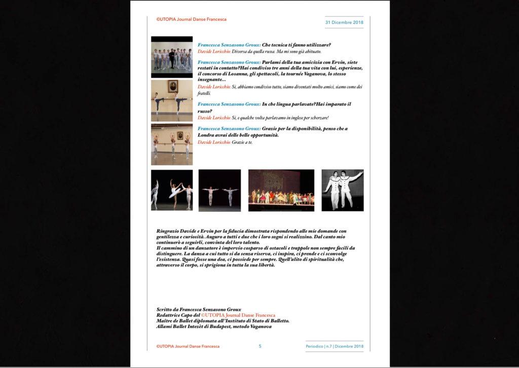 ©Utopia Journal Danse Francesca Periodico n.7 31 Dicembre 2018 versione italiana pagina 5