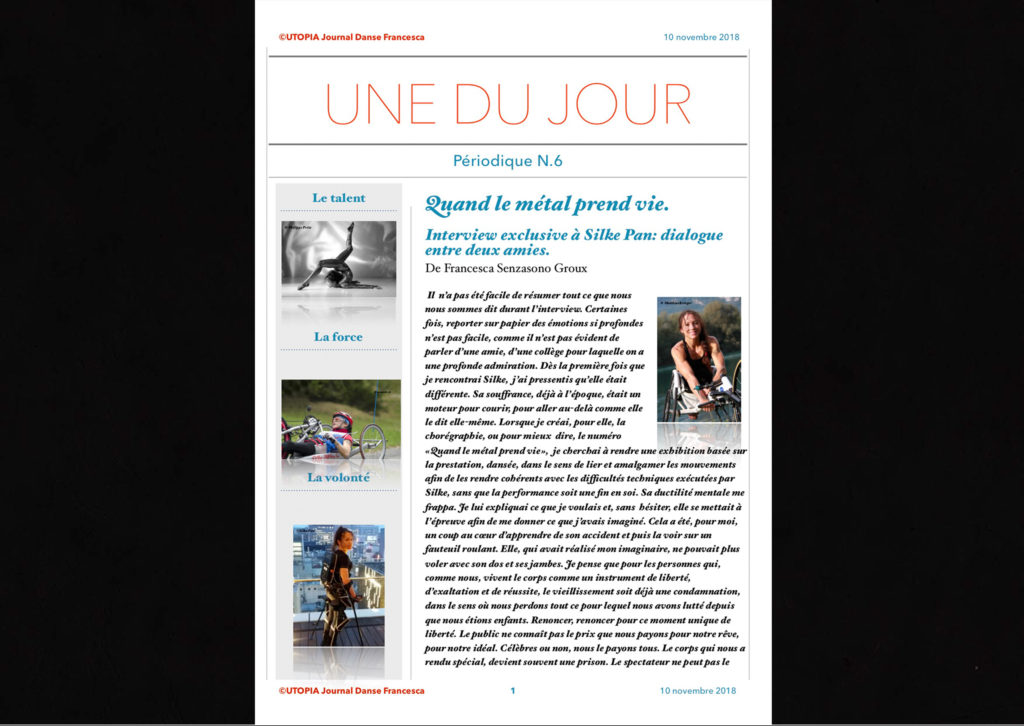 ©Utopia Journal Danse Francesca Périodique n.6-10 Novembre 2018 version française page 1