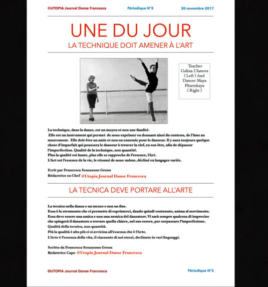 ©Utopia Journal Danse Francesca en français