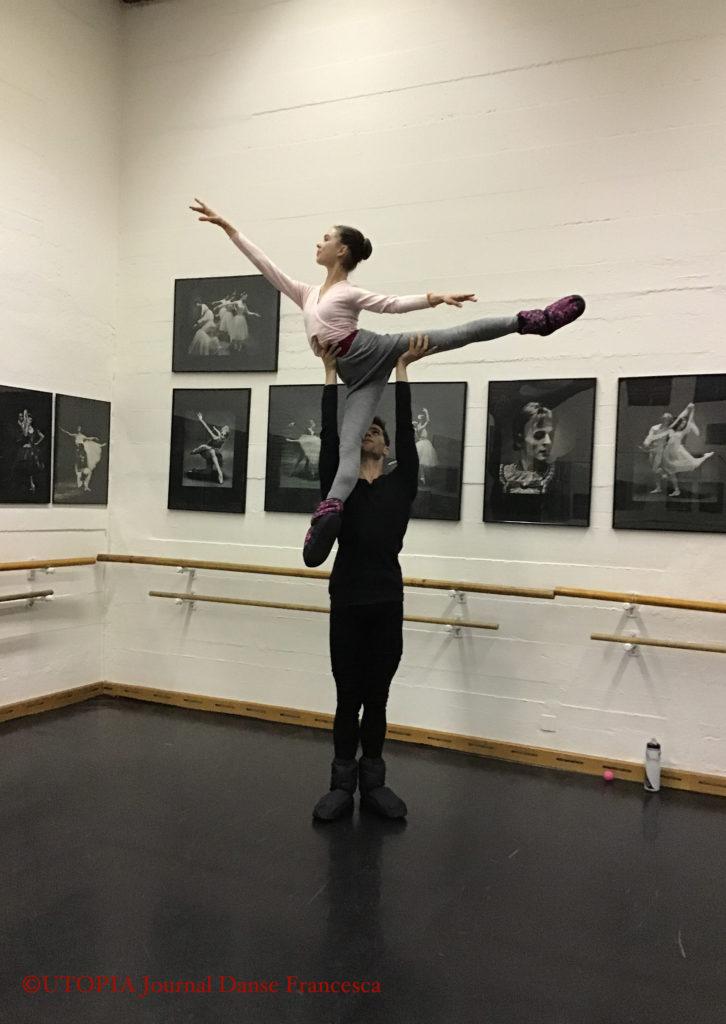 ©UTOPIA Journal Danse Francesca: Samuel Winkler et Jade Mitchell, deux concurrents australiens, à UTOPIA Ecole et Troupe de Danse, avant le Prix de Lausanne 2019, les 1er et 2.02.2019
