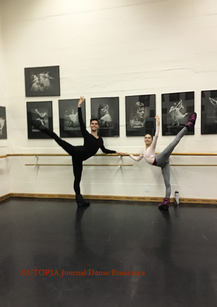 ©UTOPIA Journal Danse Francesca: Samuel Winkler et Jade Mitchell, deux concurrents australiens de la Victoria Academy of Ballet de Melbourne, à UTOPIA Ecole et Troupe de Danse, avant le Prix de Lausanne 2019, les 1er et 2.02.2019