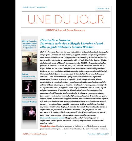 ©Utopia Journal Danse Francesca in lingua italiana