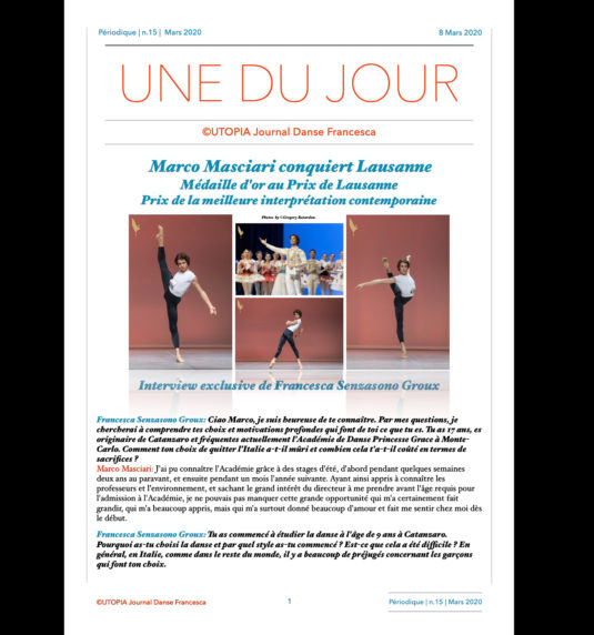 ©Utopia Journal Danse Francesca version française